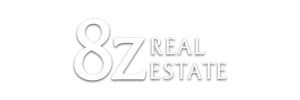 8z real estate white logo