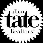 allen tate white logo